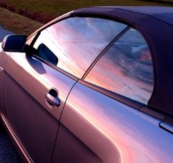 silver car window