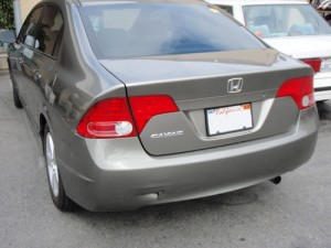 Honda civic rear bumper repair