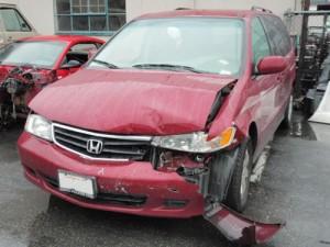 Minivan bumper repair