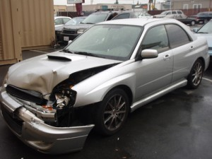 subaru bumper damage