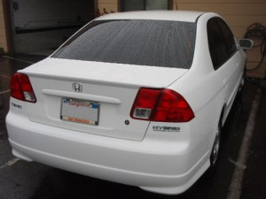white honda civic repair