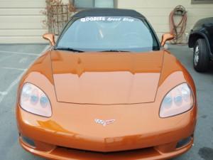repaired corvette dent