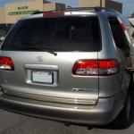 silver van fixed dent